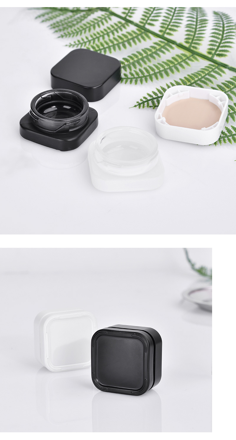 5g childproof square glass weed jar