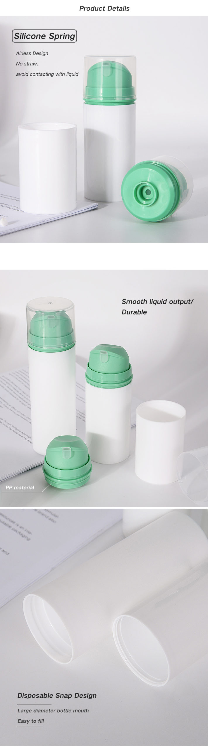 Snap On Airless Pump Bottle
