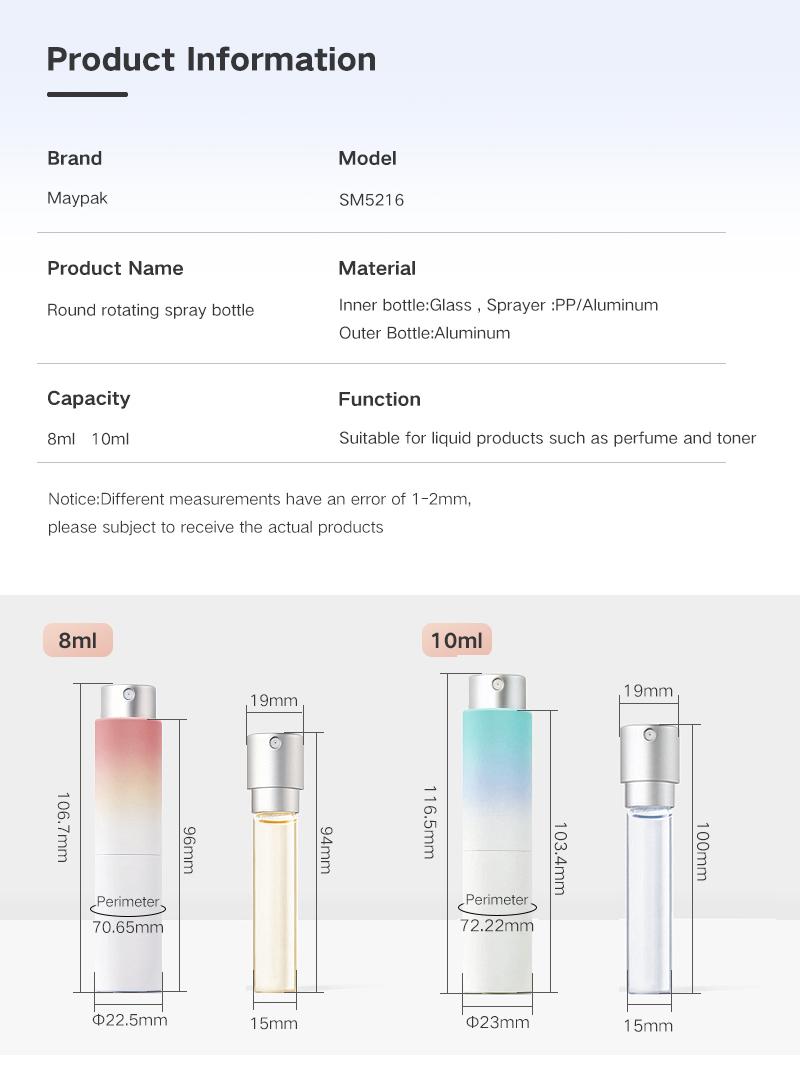 Refillable Mist Spray Bottle